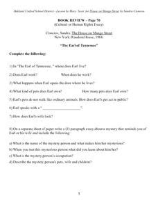 themes found in the house on mango street the mango tree lesson plans worksheets reviewed by teachers
