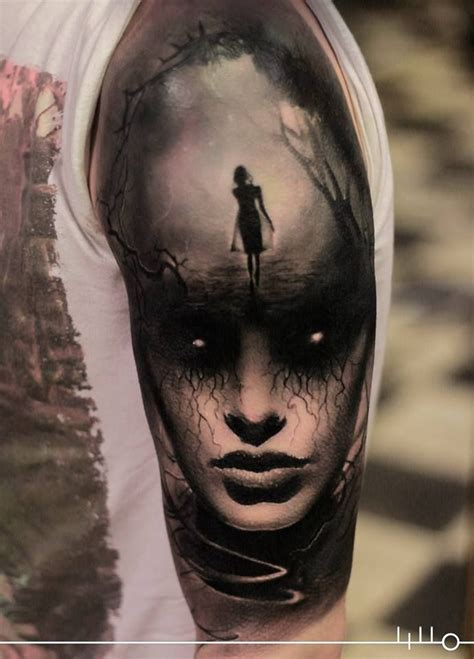 tattoo design realistic 41 best horror women tattoos images on pinterest horror