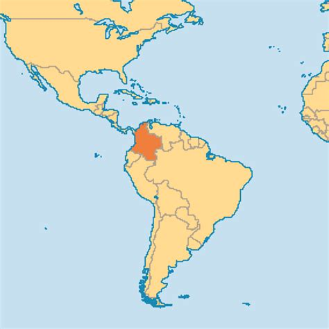 colombia map of the world where is colombia in world map