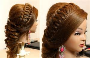 hair style bridal hairstyle for long hair tutorial youtube
