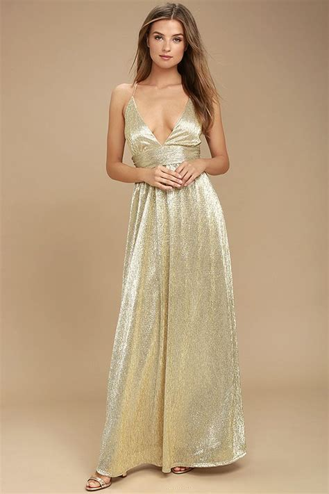 Mozza Maxi Exclusive Gold gilded goddess gold maxi dress gold and products