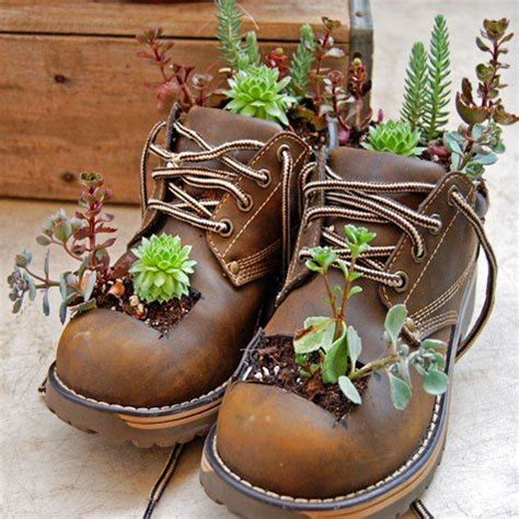 Shoe Planters by Shoe Planter Outdoors Landscaping