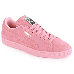 suede classic womens suede trainers light pink