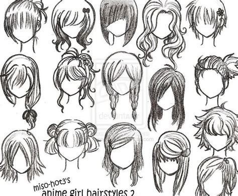 anime hairstyles curly anime curly hairstyles for girls manga drawing hair and