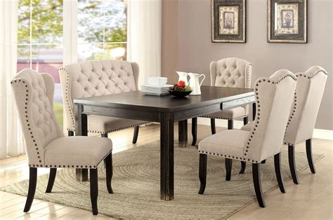 furniture of america dining table furniture of america sania i dining table set cm3224bk t