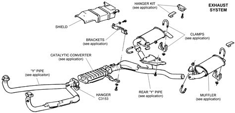 muffler system diagram exhaust system from an chevy diagram no car no