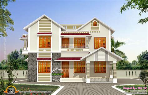 design of front of house front and side elevation of house kerala home design and floor plans