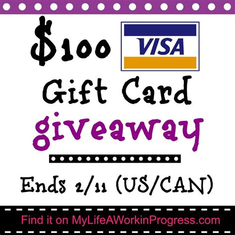 Sending Visa Gift Cards Overseas - giveaway 100 visa gift card us can 1 22 2 11 my life a work in progress