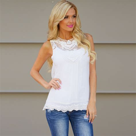 Blouse Tank Top fashion casual summer cotton sleeveless