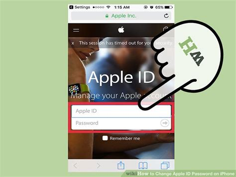 how to change apple id password on iphone with pictures