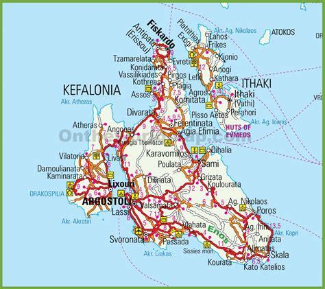 printable road map of greece kefalonia road map