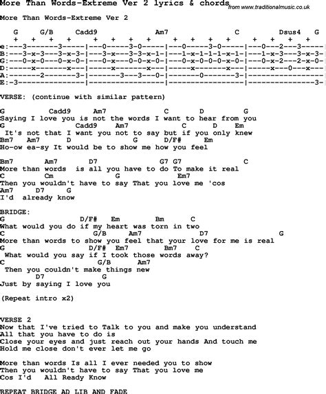 ukulele tutorial more than words love song lyrics for more than words extreme ver 2 with
