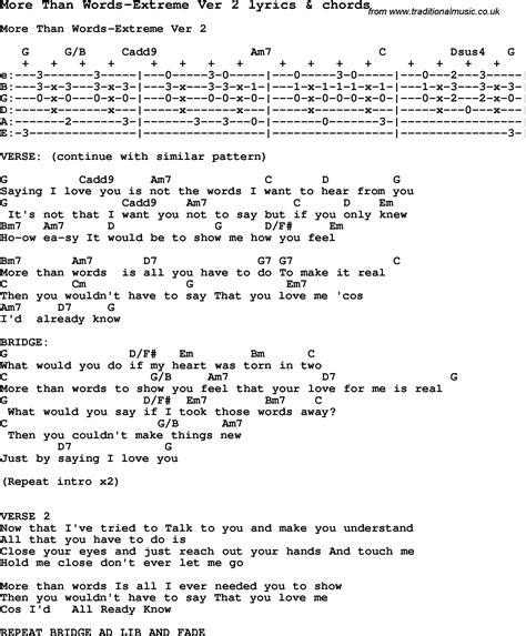 More Than Words Guitar Chord