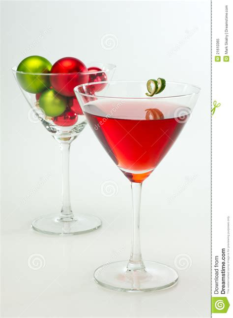 martini christmas red martini holiday cocktail stock image image 21610365