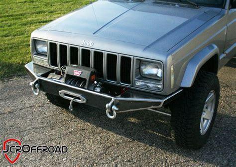 homemade jeep bumper jcroffroad inc xj cherokee diy front winch bumper jeep
