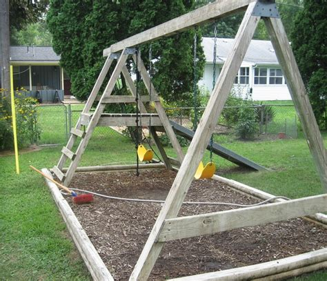 swing set designs free simple wood swing set plans woodworking projects