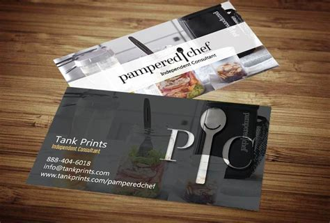 pered chef business card template free pered chef business card design 6