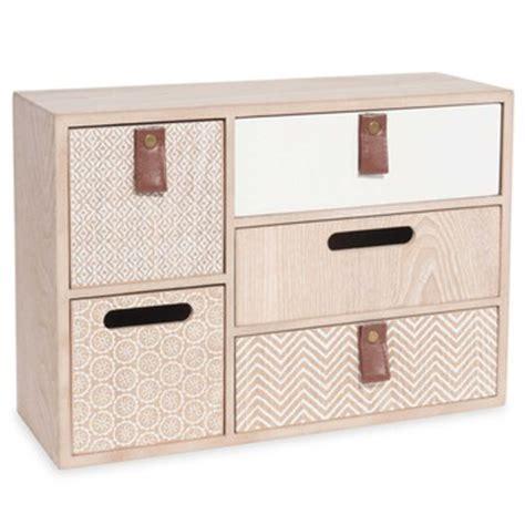 boite a tiroir en bois meuble et objet de rangement maisons du monde