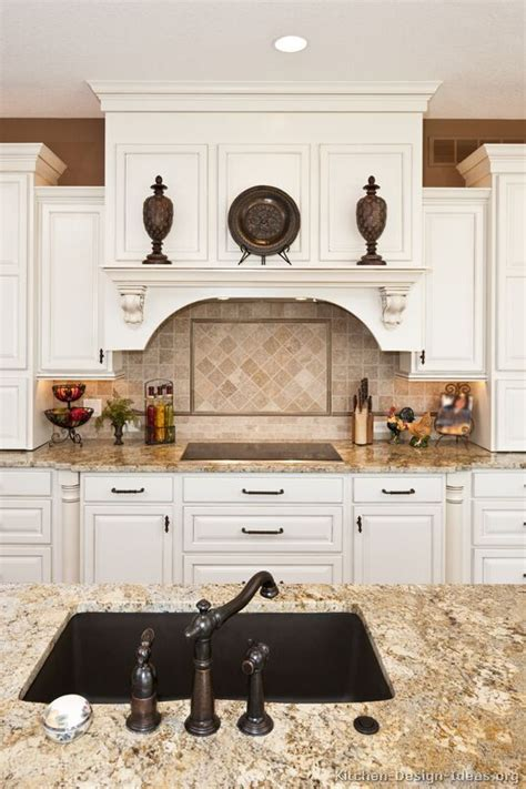 Kitchen Mantel Ideas by Kitchen Of The Day Classic White Kitchens Decorating