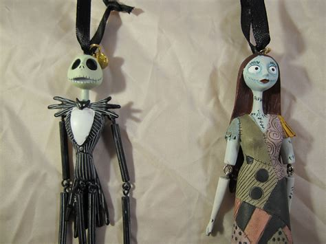 jack and sally christmas ornaments skellington and sally ornaments the pumpkin king collection