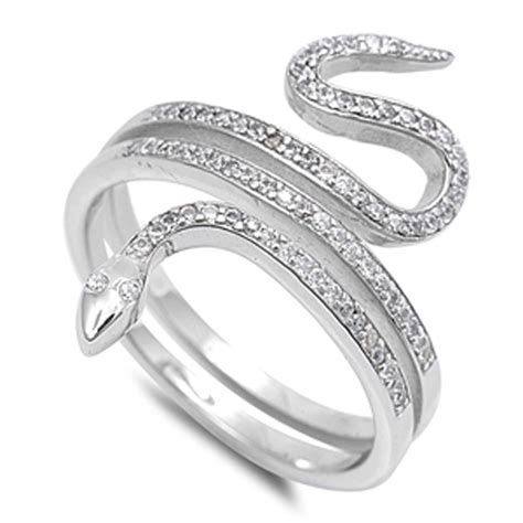 snake ring new 925 sterling silver serpent band ebay