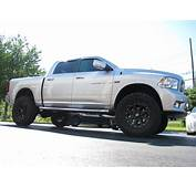 Silver Lifted Dodge Ram Truck  Trucks