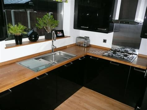 Black Gloss Kitchen With White Worktops by 1st4m 100 Feedback Kitchen Fitter In Orpington