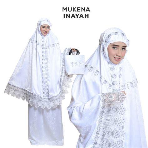 Mukena Semi jual mukena semi inayah putih motif cantik harga murah