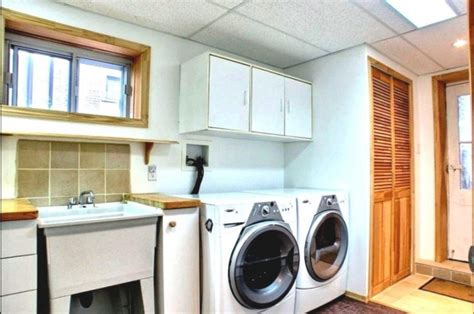 unfinished basement laundry room ideas primcousa