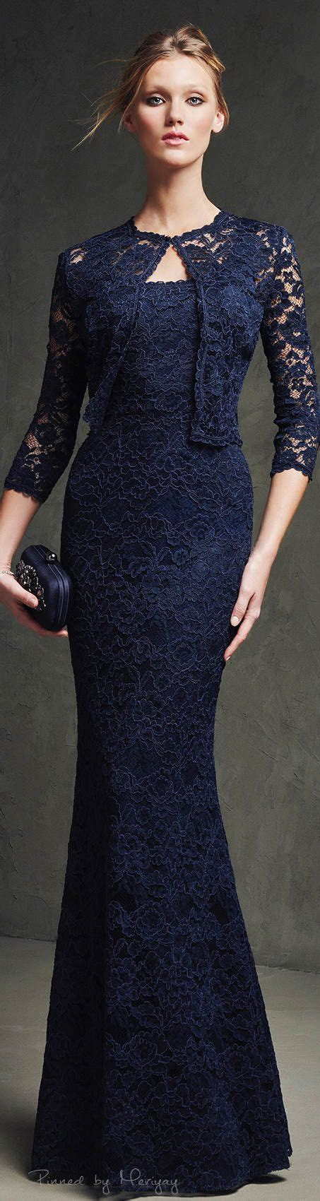 Set Longdress Bolero blue lace of the 2pc jacket and dress pretty