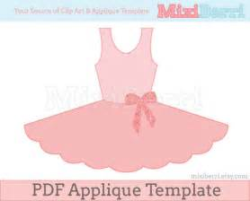 ballet tutu dress applique pattern pdf applique template