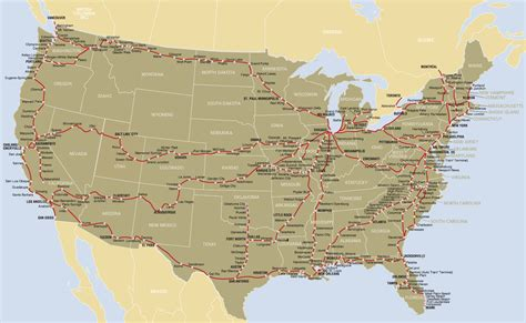 usa map routes former amtrak routes