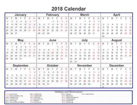 printable calendar 2018 with public holidays canada national holidays 2018 the best holiday 2017