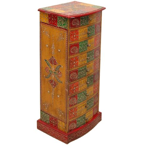 hand painted indian cabinets vipra hand painted five with mudramark by