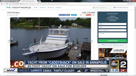 caddyshack boat yacht from caddyshack for sale in annapolis youtube