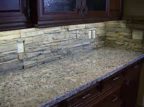 Stacked Stone Kitchen Backsplash Alderwood Stack Stone Backsplash Flickr Photo Sharing