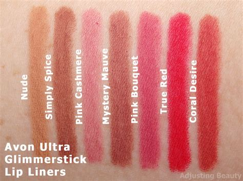 Lip Liner True review avon ultra glimmerstick lip liners adjusting