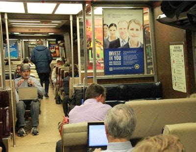 Unh Executive Mba by Univ Of N Advertises To Business Commuters On The