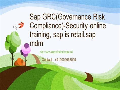 sap grc tutorial pdf sap grc governance risk compliance security online