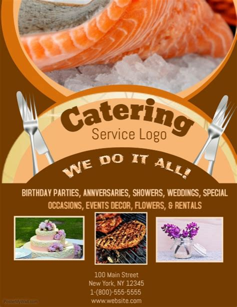 Catering Template Postermywall Catering Flyers Templates Free