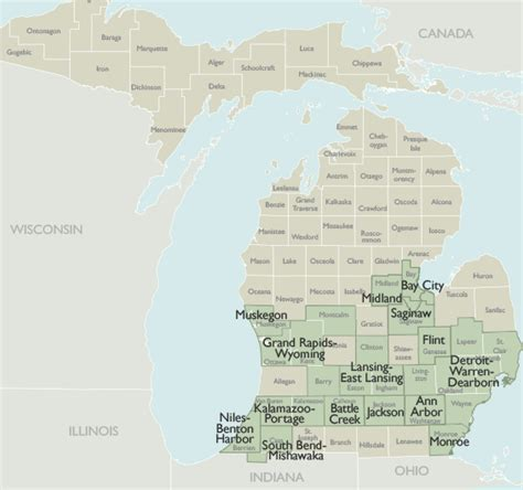 michigan area code map metro area zip code maps of michigan