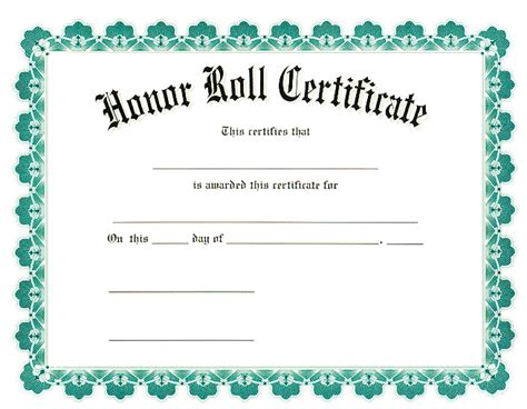 a b honor roll certificate template honor roll certificates beneficialholdings info