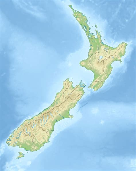 new zealand physical map geography detailed map of new zealand