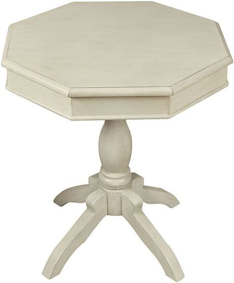 antique white accent table octagon antique white accent table from furniture of