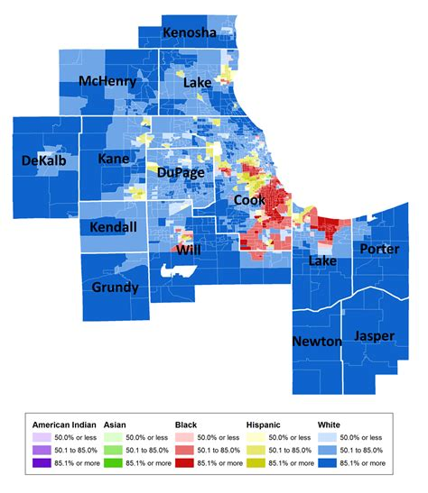 chicago segregation map segregation results from 2010 censusscope org