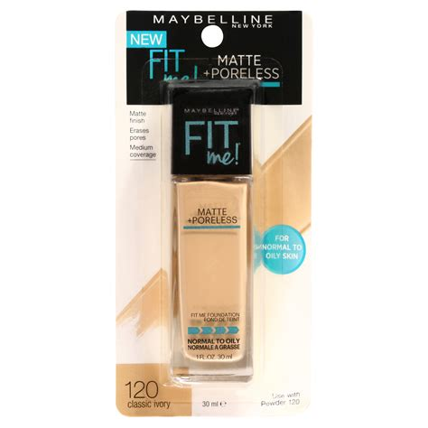 Maybelline Fit Me Foundation Matte Poreless maybelline fit me matte poreless foundation 30ml kmart
