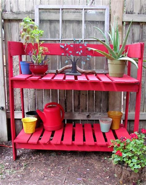 diy potting bench from pallets diy pallet potting benches pallets designs