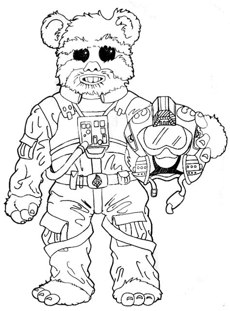 star wars ewok coloring pages sketch coloring page