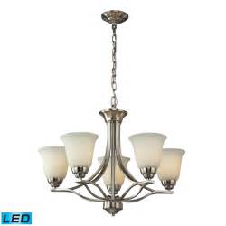 chandelier brushed nickel elk lighting malaga 5 light chandelier in brushed nickel