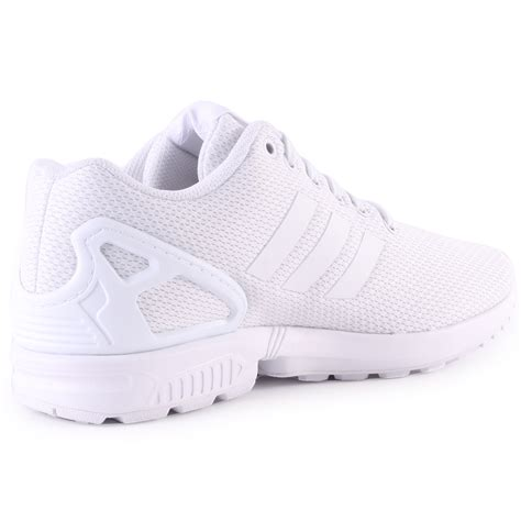 adidas zx flux mens mesh white white trainers new shoes